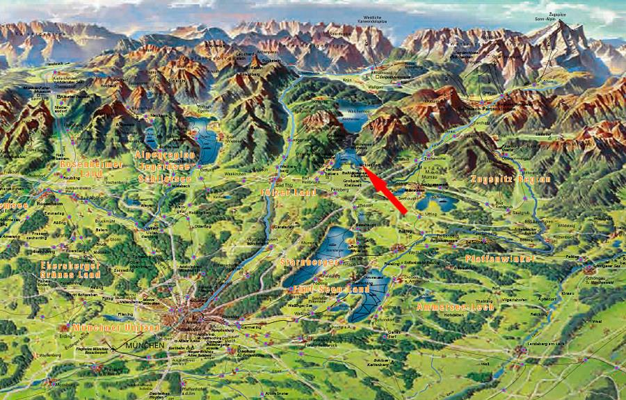 Bergkarte Deutschland